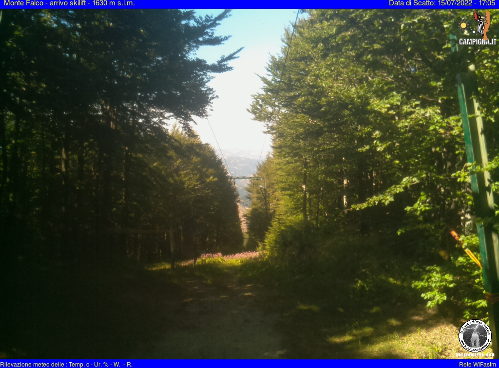 Webcam Monte Falco - arrivi sciovia